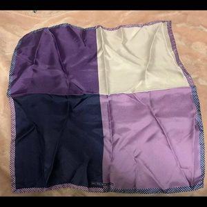 Nordstrom 100% Silk Purple Pocket Square